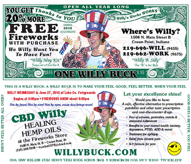 Willy Buck 2018 front and back