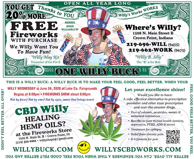 Willy Buck 2020 front and back